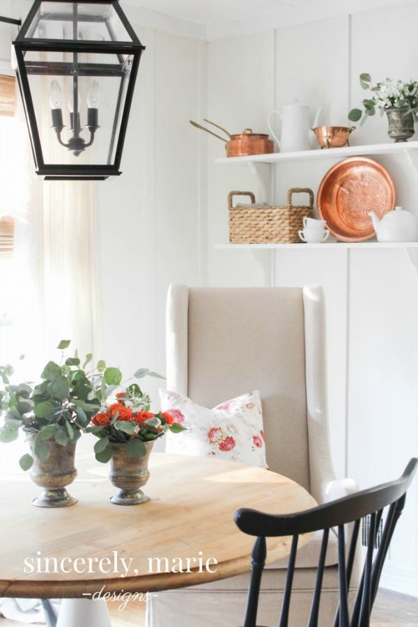 Benjamin Moore White Dove Breakfast Nook - Sincerely, Marie Designs