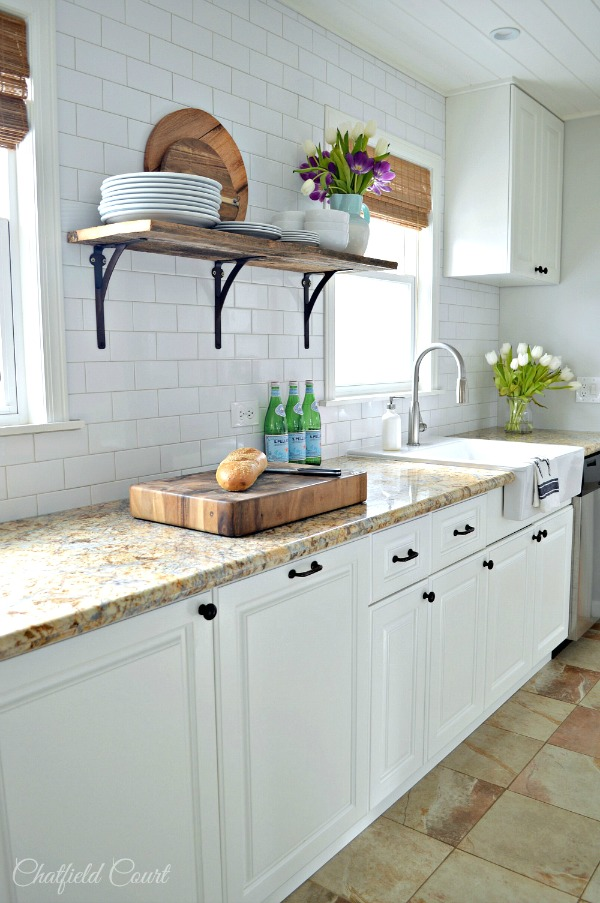Benjamin Moore White Dove Kitchen Cabinets - Kitchen Remodel by Chatfield Court