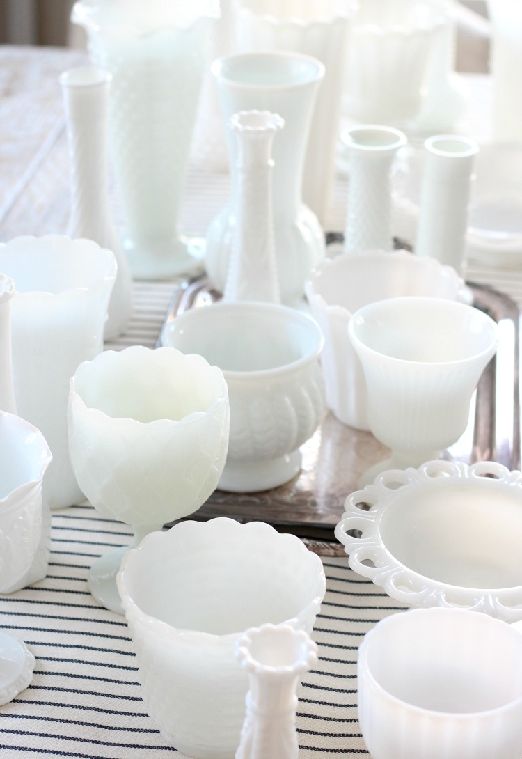 Vintage White Milk Glass Collection