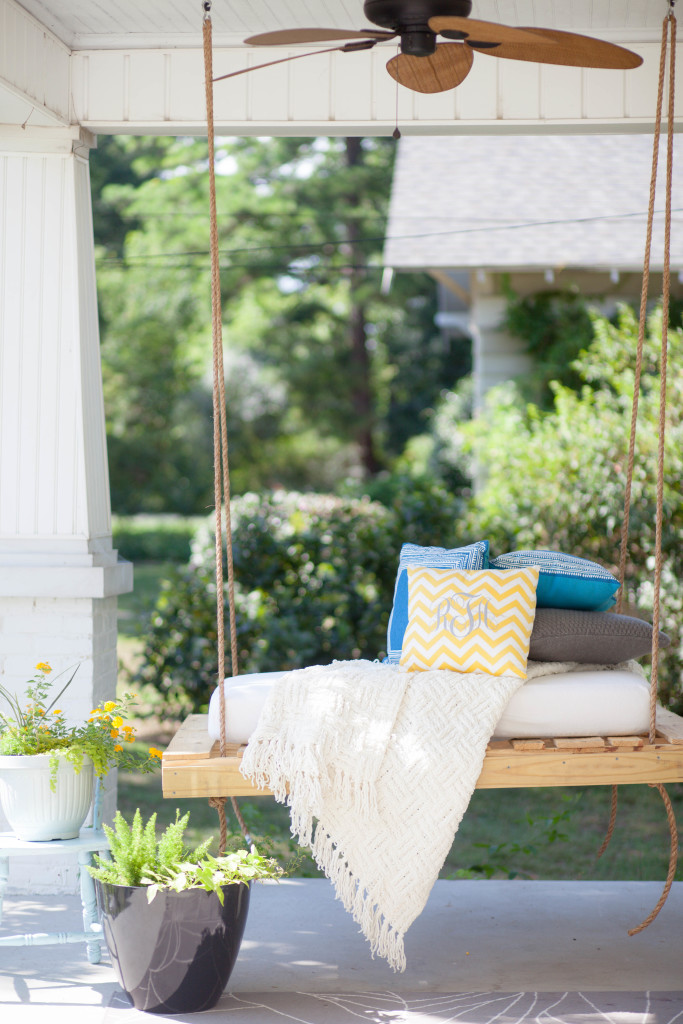 DIY Front Porch Bed Swing - Amber Tysl
