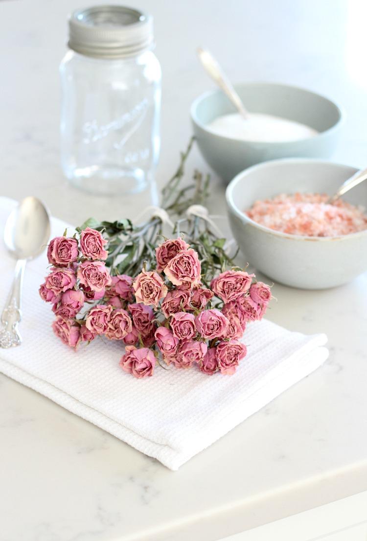 Rose Petal Bath Soak Ingredients