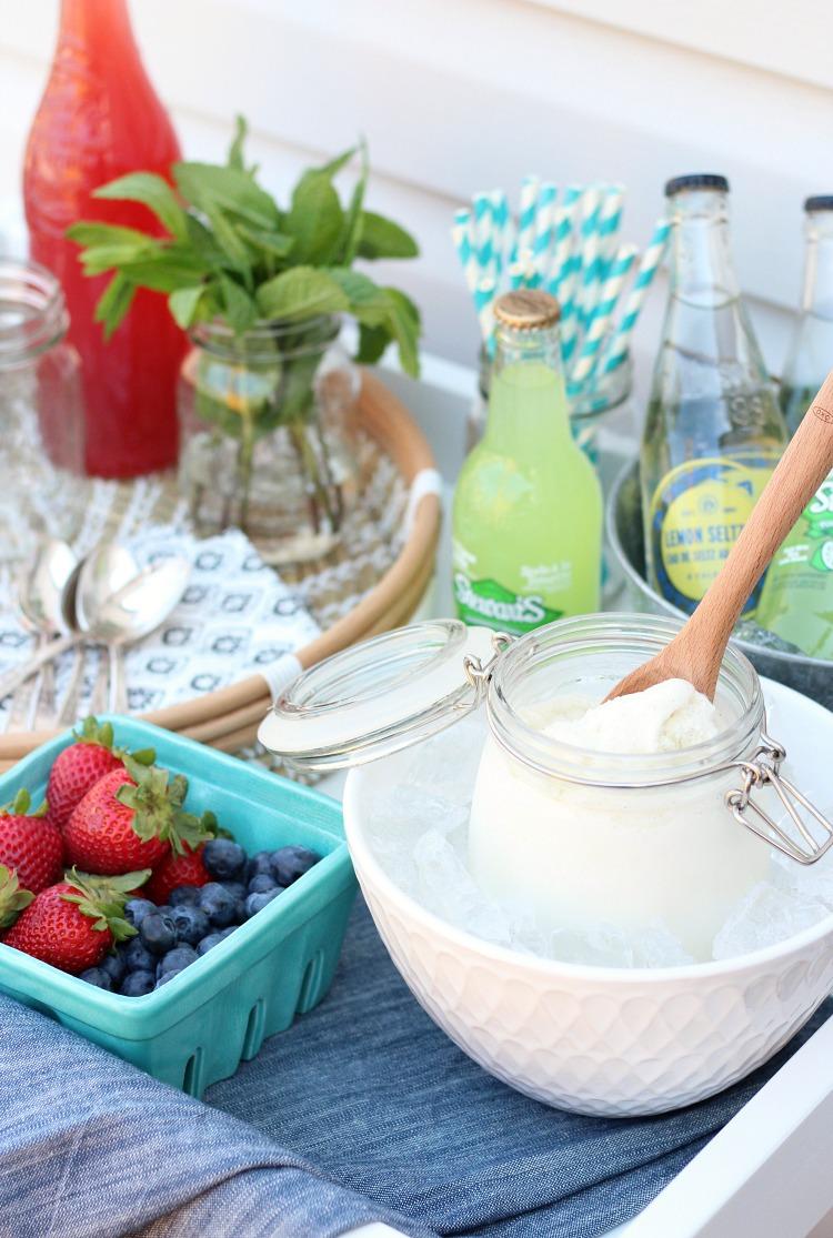 Ice Cream Float Bar - Outdoor Party Dessert Idea - Satori Design for Living
