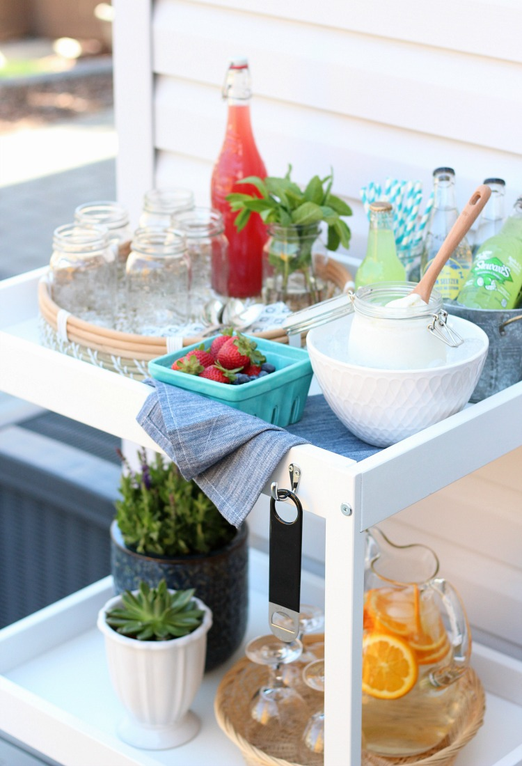 Ice Cream Float Bar Outdoor Party Idea - Satori Design for Living