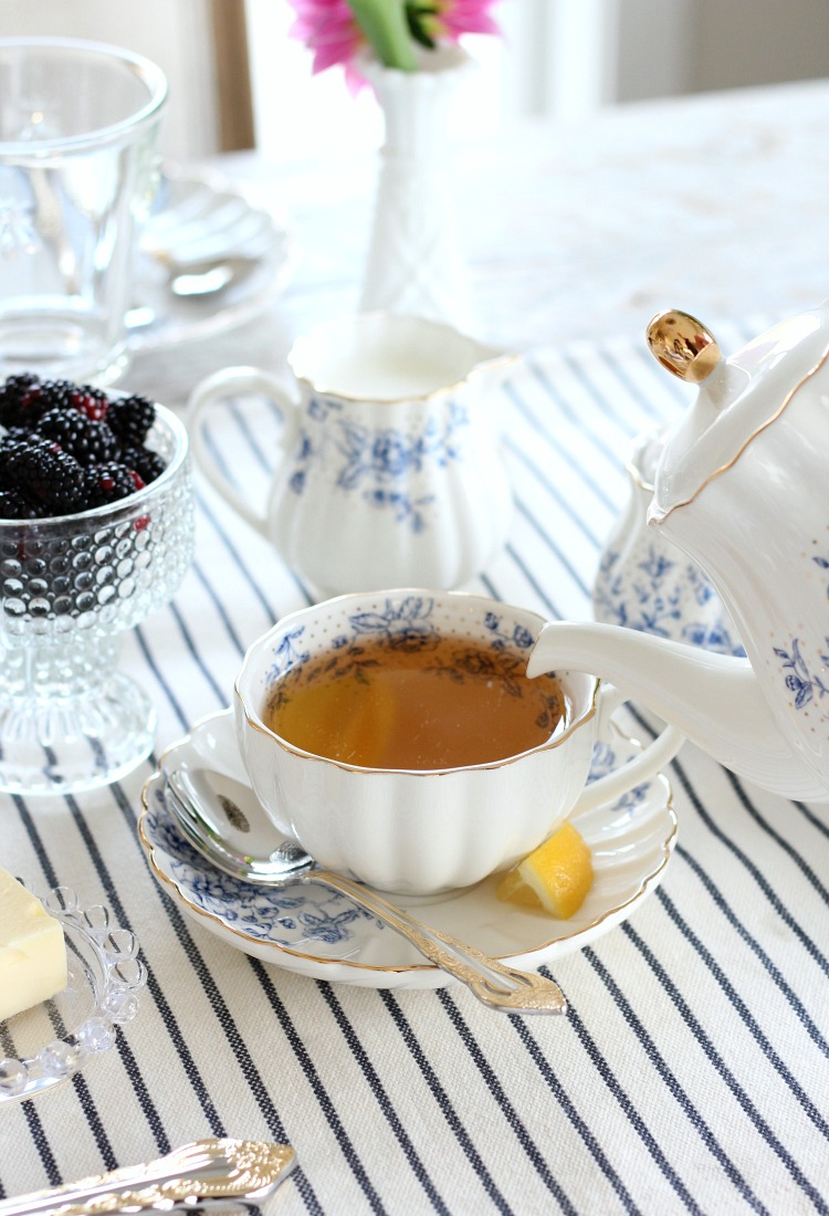 Tips for Hosting a Tea Party - Blue and White Floral Tea Set