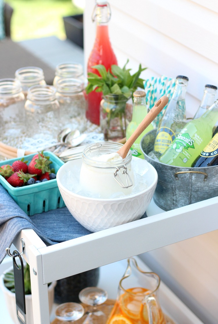 Outdoor Ice Cream Float Bar - Summer Party Idea - Satori Design for Living