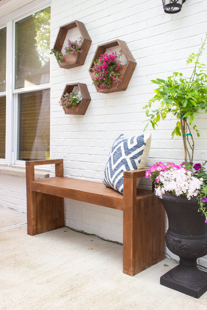 DIY Modern Outdoor Bench - Shades of Blue Interiors