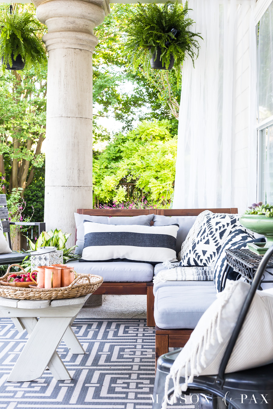 Summer Porch Decor Ideas - Maison de Pax