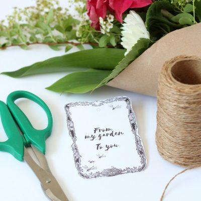 Garden Flower Bouquet Printable Gift Tag
