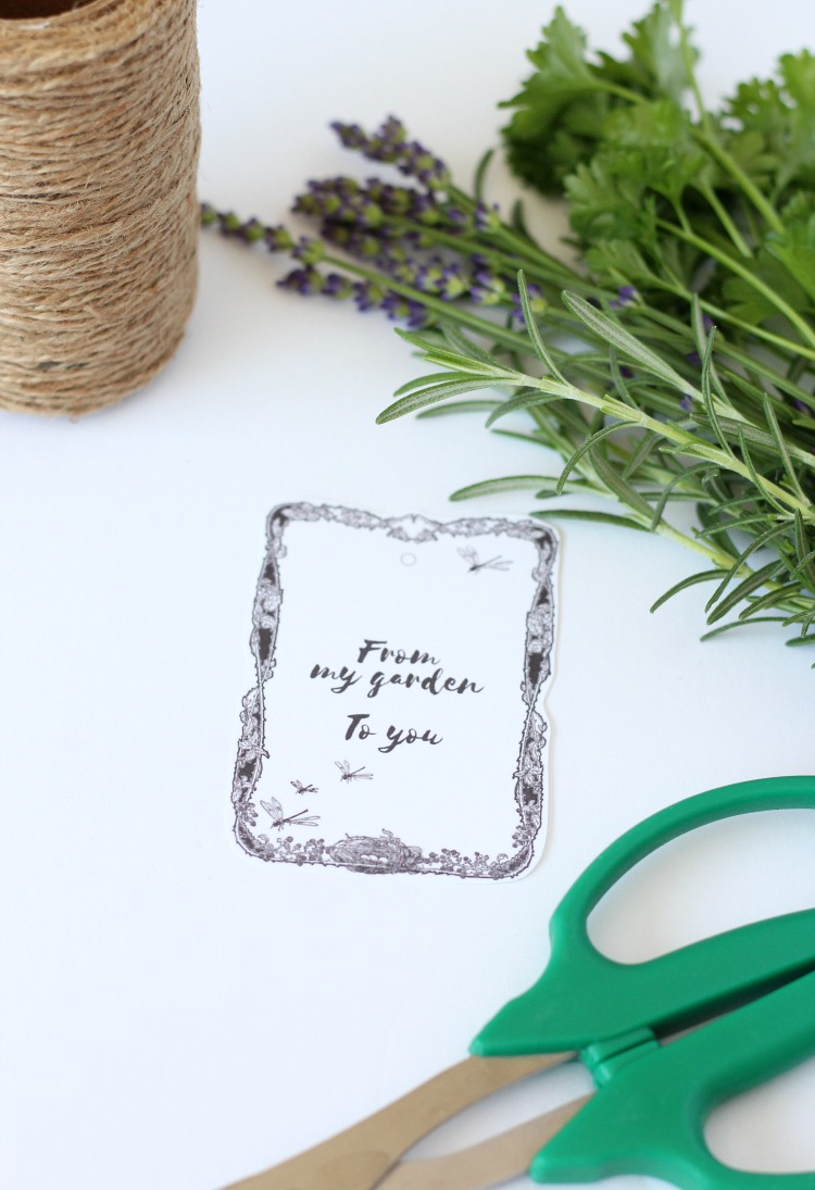 Herb Garden Bouquets with Printable Gift Tags - Satori Design for Living