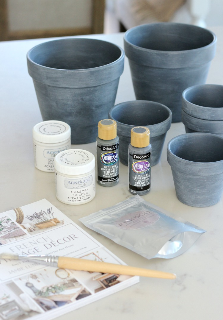 How to Make Concrete Painted Pots - Satori Design for Living