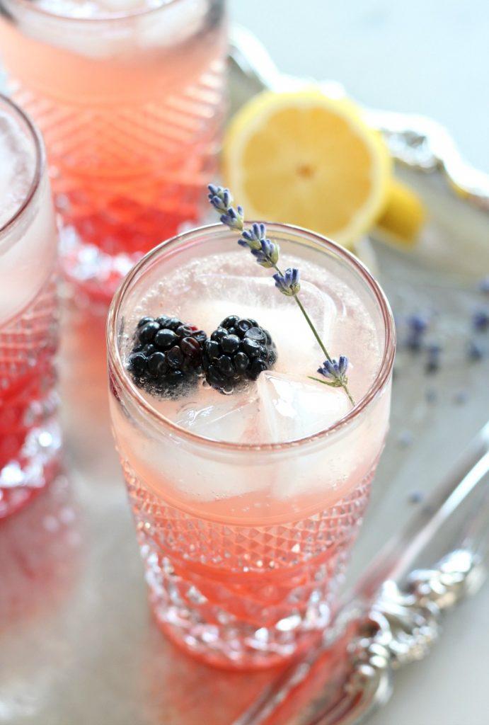 Lavender and Blackberry Sparkling Lemonade Cocktail - Satori Design for Living