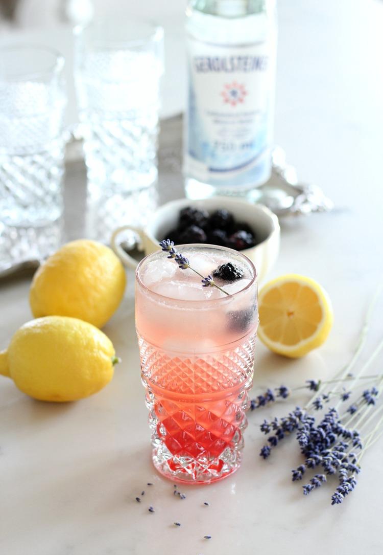 How to Make Lavender Lemonade with Blackberries