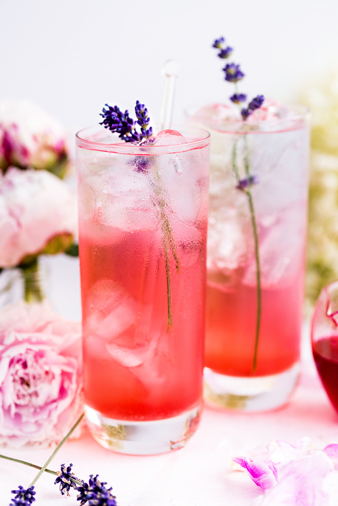 Blackberry Lavender Gin and Tonic by Supergolden Bakes