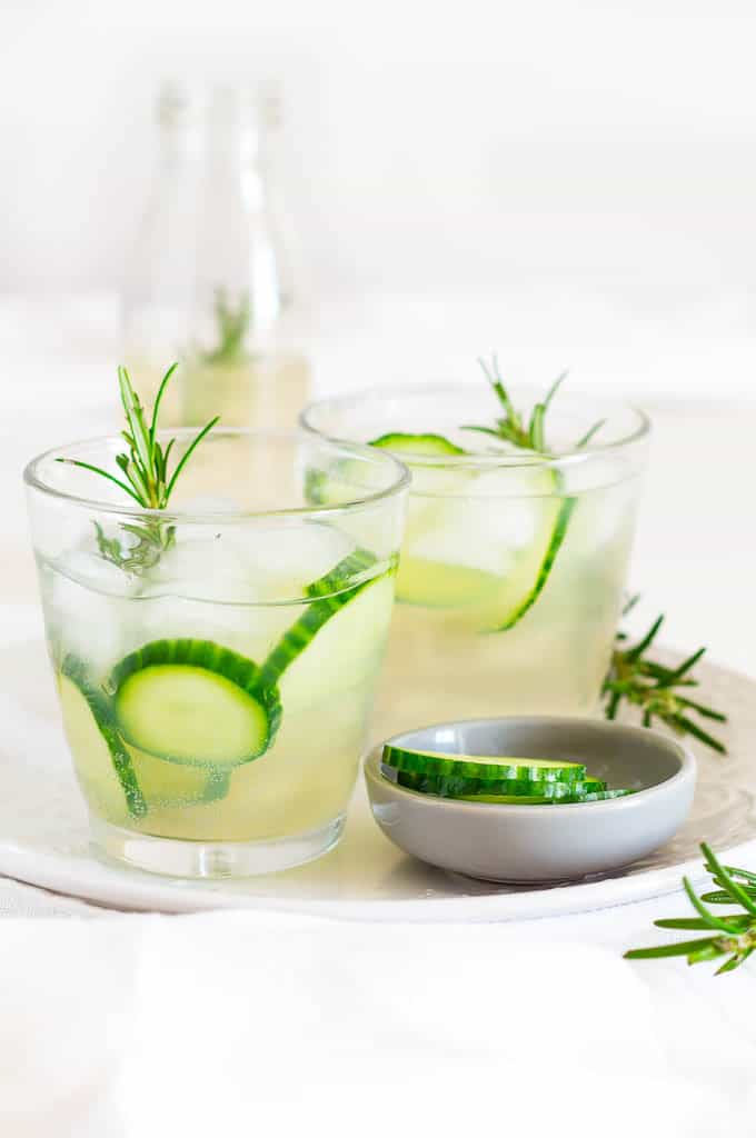 Fresh Herb Summer Drink Recipes - Cucumber and Rosemary Infused Ginger Beer by Recipes from a Pantry