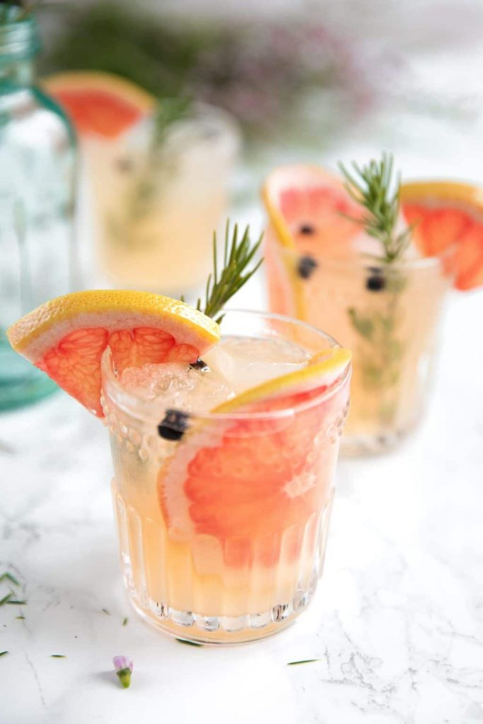 ElderFlower Grapefruit Gin and Tonic by The Forked Spoon