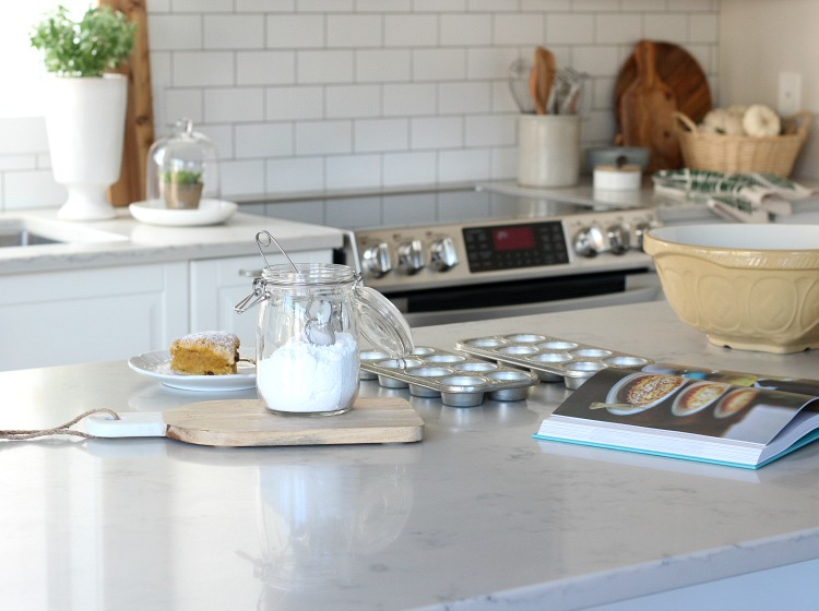 Fall Decorating Ideas in the Kitchen - Adding Simple Fall Touches to a White Kitchen - Satori Design for Living