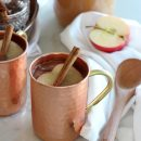 Spiked Apple Cider Fall Drink in Copper Mug