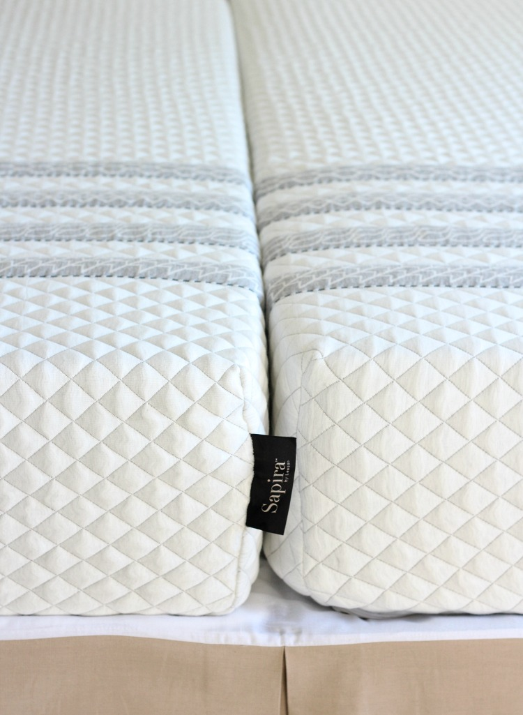 Two Twin XL Mattresses to Form a King Bed - Our Sapira Mattress Review - Satori Design for Living