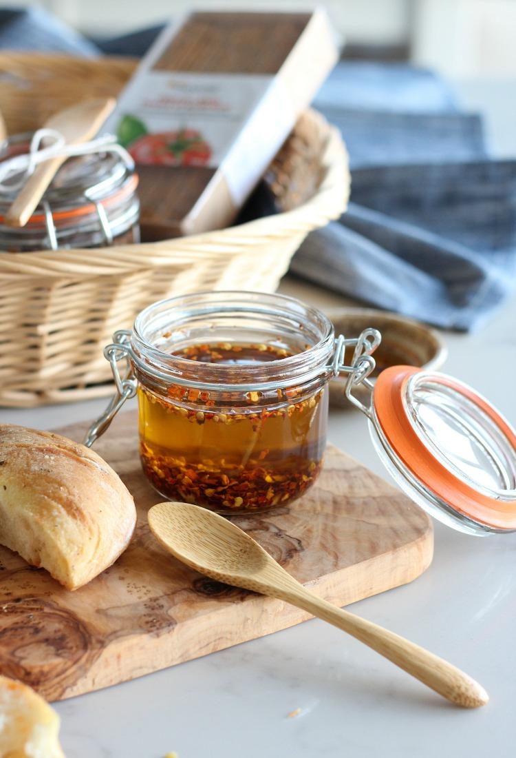 Chili and Garlic Olive Oil Holiday Gift Idea - Satori Design for Living