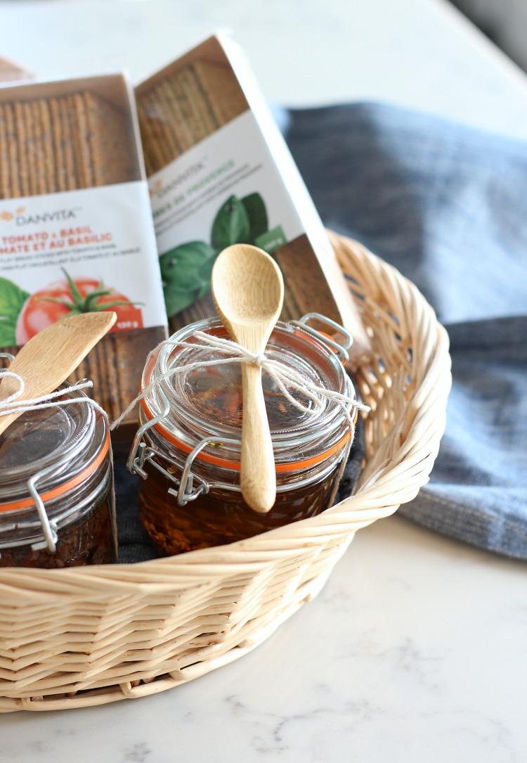 Chili and Garlic Olive Oil Holiday Gift Basket - Satori Design for Living
