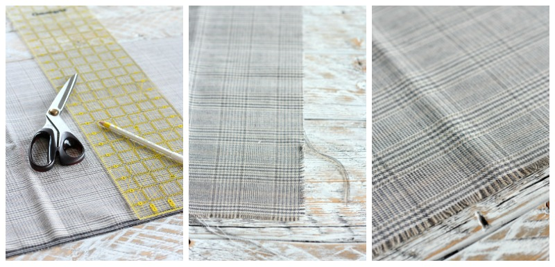 Easy Fringe Napkins for Your Holiday Table - DIY Frayed Edge Napkin Tutorial by Satori Design for Living