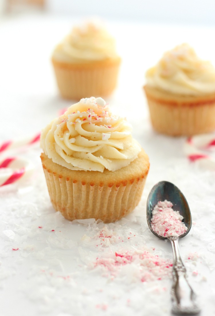 Holiday Cupcakes with Eggnog Buttercream Frosting - Christmas Dessert Recipe by Satori Design for Living