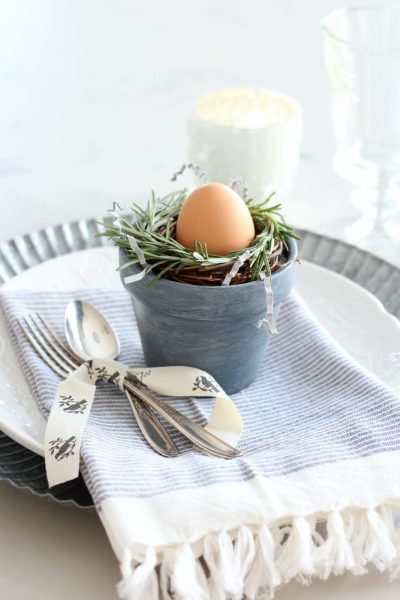 Make These Mini Rosemary Wreaths for Your Spring Table Setting - Easter Table Decorations - Satori Design for Living