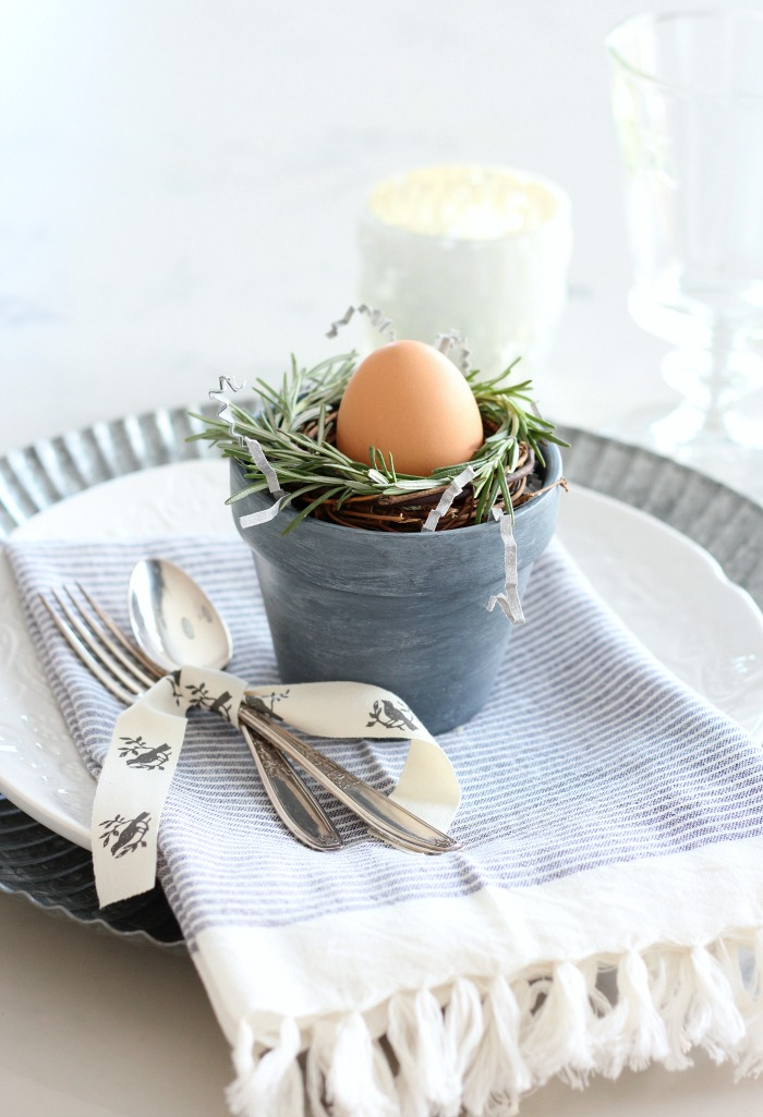 Make These Mini Rosemary Wreaths for Your Spring Table Setting - Easy Easter Table Decorations - Satori Design for Living