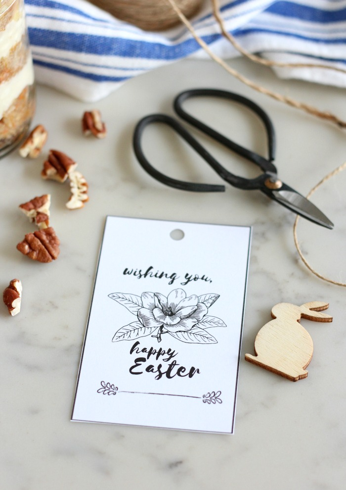 Happy Easter Free Printable Gift Tags with Lily
