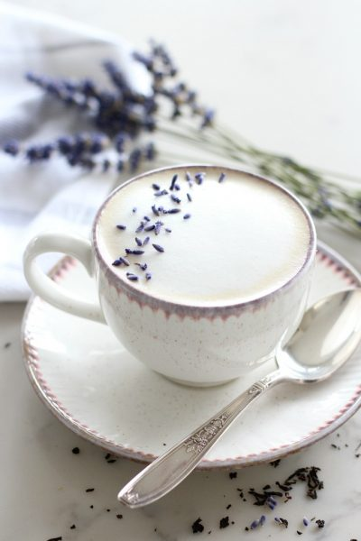 Lavender London Fog Latte - Creamy Tea Latte in Pretty for Mother's Day - Satori Design for Living