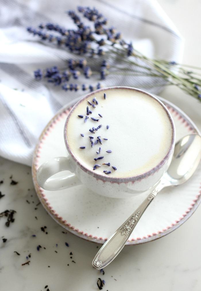 Lavender London Fog Latte - Delicious and Pretty Tea Latte Recipe for Mother's Day - Satori Design for Living