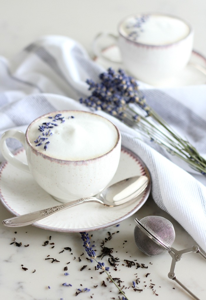 Lavender London Fog Latte Recipe - Earl Grey Latte with Lavender - Satori Design for Living