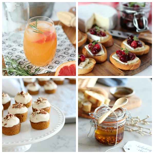 These seasonal recipes celebrate gathering together and the bounty of each season. Drinks, appetizers, desserts and more!