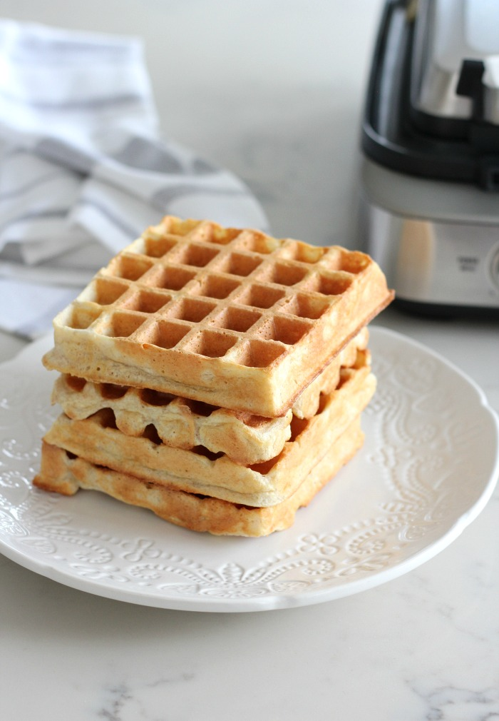 Stack of Waffles Made with Breville Waffle Maker