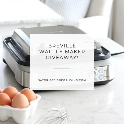 Breville Waffle Maker Giveaway - Enter at SatoriDesignforLiving.com