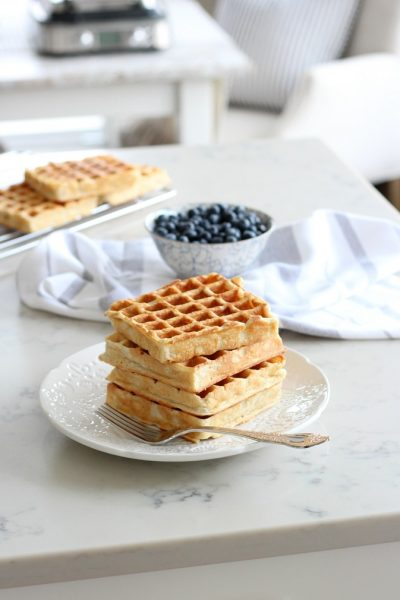 My Favourite Classic Waffle Recipe - How to Make a Stack of Golden Waffles - Satori Design for Living