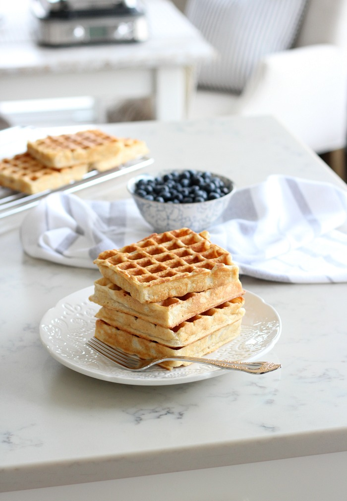 My Favourite Classic Waffle Recipe - How to Make a Stack of Delicious Golden Waffles - Satori Design for Living