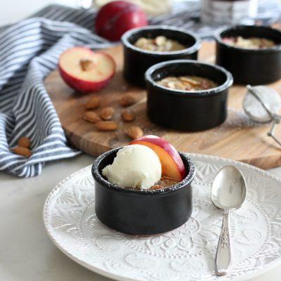 Plum Frangipane Dessert Baked in Ramekins