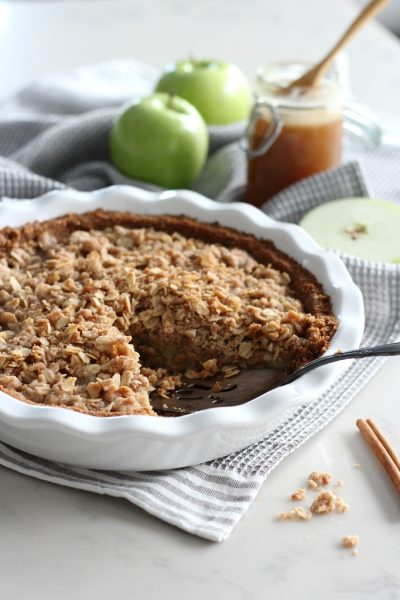 Ginger Apple Crumble Pie with Salted Caramel - Gluten-Free Pie Recipe