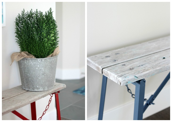 Rustic Bench Makeover Using Nantucket Grey Paint from DecoArt