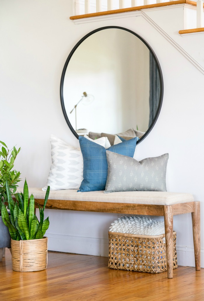 Styling a Bench with Pillows from City Farmhouse and Co.