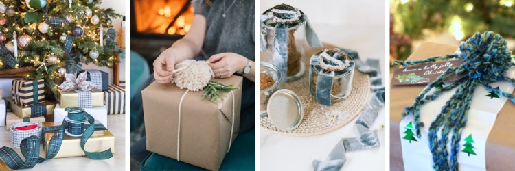 Blue and White Christmas Gift Wrapping Ideas