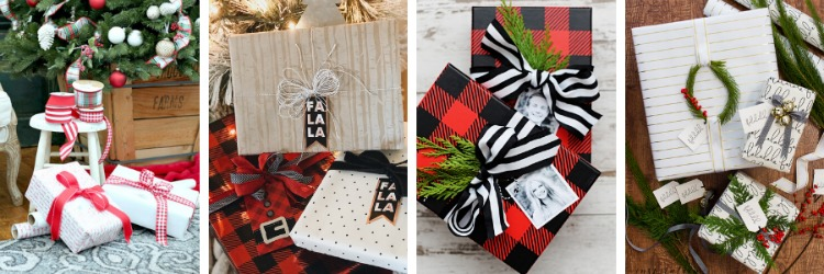 Red and White Christmas Gift Wrapping Ideas