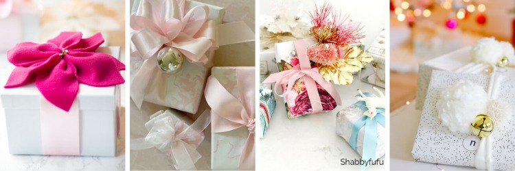 Pink and White Christmas Gift Wrapping Ideas