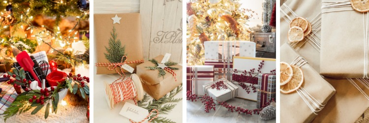 Simple Christmas Gift Wrapping Ideas Using Kraft Paper and More