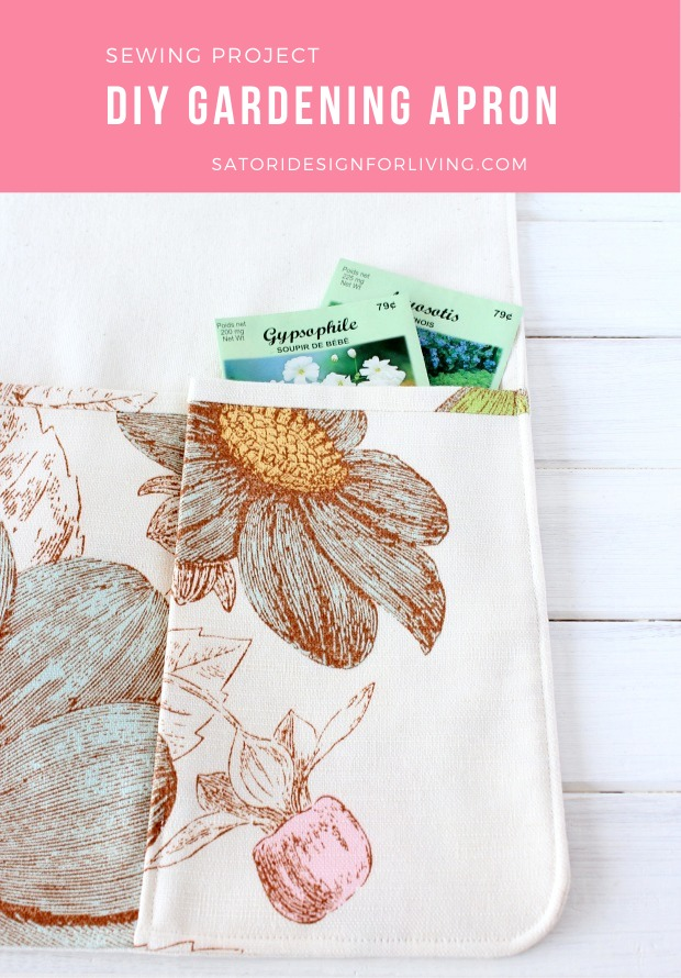 How to Sew a Gardening Apron with Pockets