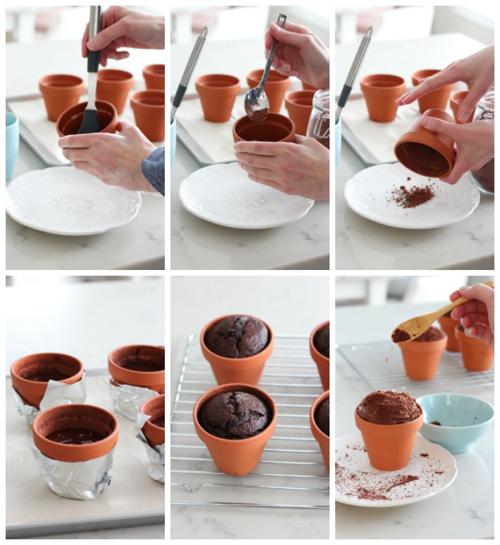 How to Make Individual Flower Pot Cakes
