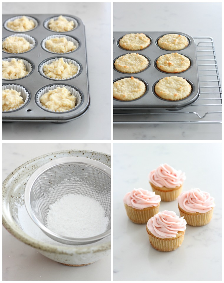 How to Make Almond Flour Cupcakes with Fresh Strawberry Buttercream