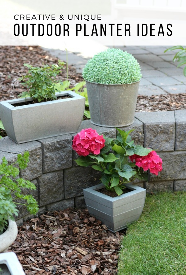 Outdoor Planter Ideas Using Metal Buckets and Plants