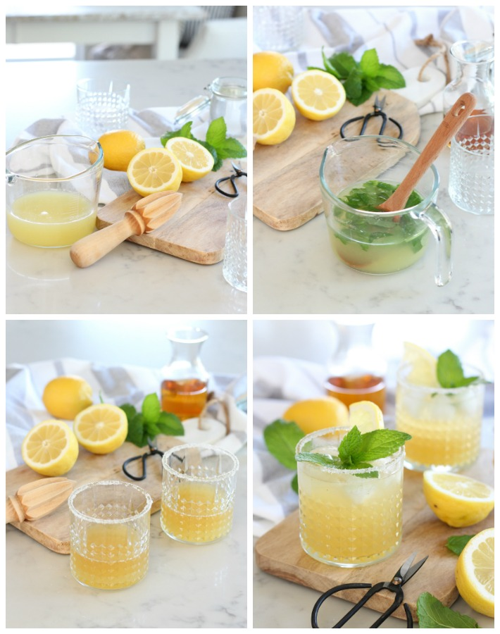 How to Make Bourbon Mint Lemonade